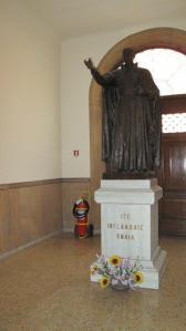 St. Ignatius of Loyola in Rome with fire extinquisher