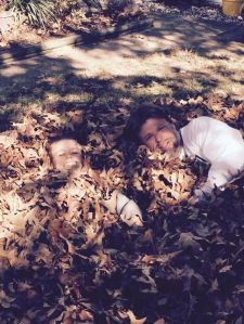 leaves, autumn, joy, family, peace, serenity