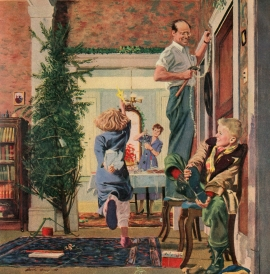 Norman Rockwell, Christmas, stress, anxiety, cope, holidays, family, peace, lifesjourney, Chris Shea, life, inspirational